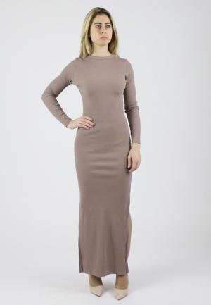 Платье Monoroom. Цвет: бежевый