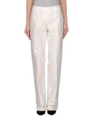 Повседневные брюки TOMASO. Цвет: белый