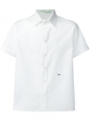 Рубашка с принтом скорпиона на спине Off-White. Цвет: белый