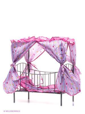 Кроватка для кукол 1Toy. Цвет: розовый