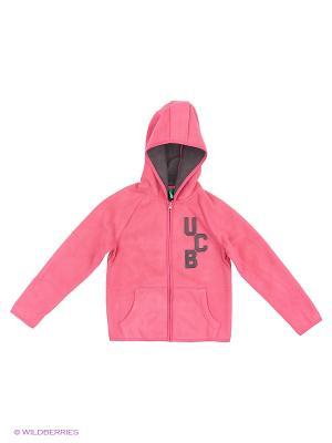 Толстовка с капюшоном United Colors of Benetton. Цвет: розовый, серый