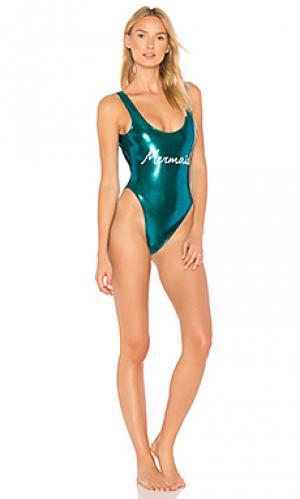 Купальник mermaid Private Party. Цвет: сине-зеленый