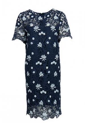 Платье VUALL. Цвет: синий