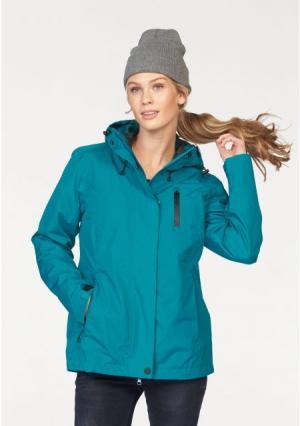 Куртка 3 в 1 POLARINO. Цвет: зелено-синий+темно-серый