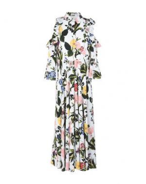 Длинное платье VIVETTA. Цвет: белый