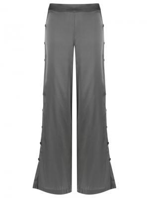 Шелковые брюки Uma | Raquel Davidowicz. Цвет: серый