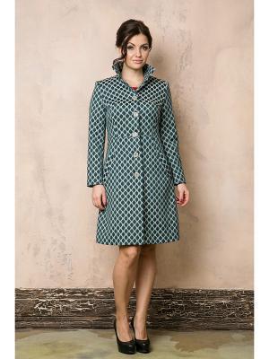 Пальто AKIMBO. Цвет: зеленый, белый