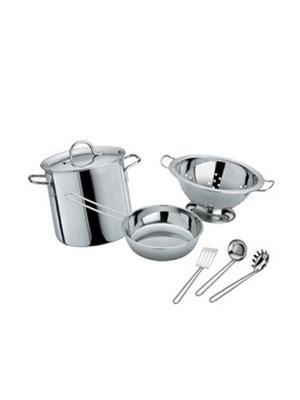 Набор металлической кухонной посуды FARO. Цвет: серебристый