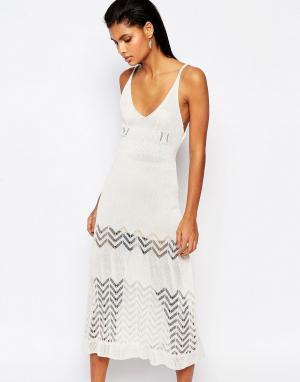 Moon River Трикотажное платье миди. Цвет: кремовый