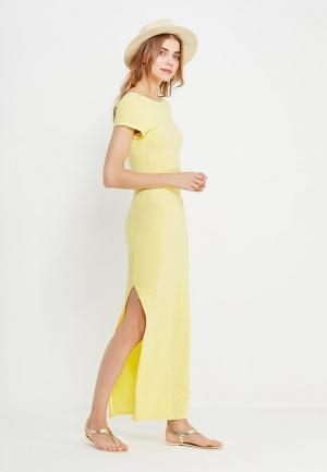 Платье SHK Mode. Цвет: желтый