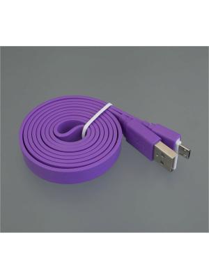 Usb кабель Pro Legend плоский micro Usb, 1м,  фиолетовый. Цвет: фиолетовый