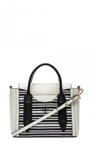 Мини сумка-сэтчел Pour La Victoire. Цвет: кремовый