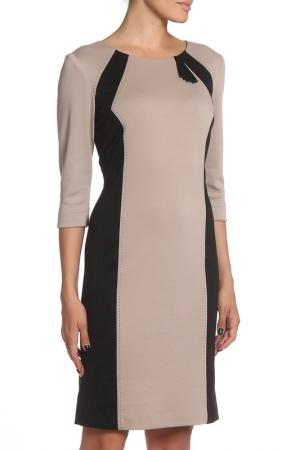 Платье MODART. Цвет: бежевый, черный