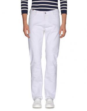 Джинсовые брюки NOTIFY. Цвет: белый