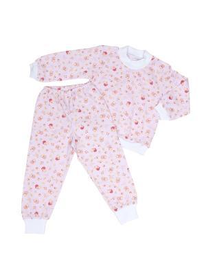 Пижама Клякса. Цвет: розовый