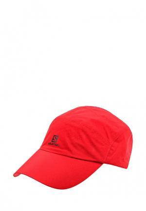 Бейсболка Salomon. Цвет: красный