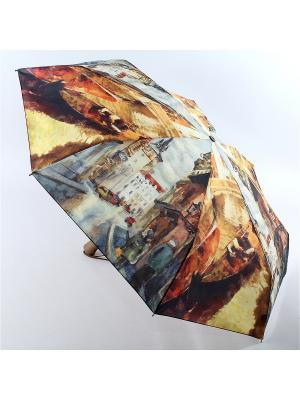 Зонт Zest. Цвет: горчичный, серо-зеленый
