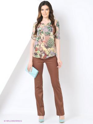 Брюки Milana Style. Цвет: коричневый