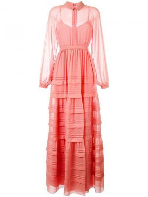 Платье Katana Roksanda. Цвет: розовый и фиолетовый
