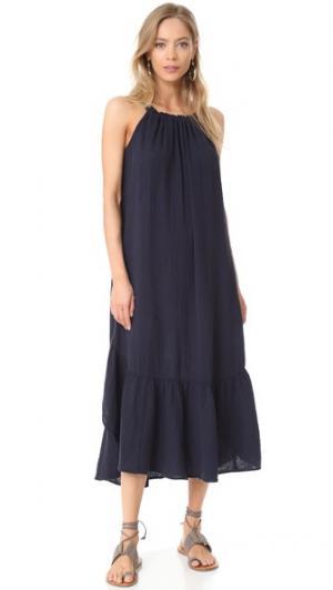 Платье Reagan XIRENA. Цвет: чернильный