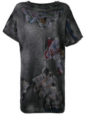 Блузка с принтом Avant Toi. Цвет: none