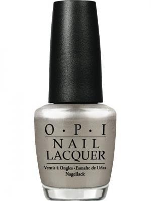 Лак для ногтей NL- My Silk Tie, 15 мл OPI. Цвет: серебристый