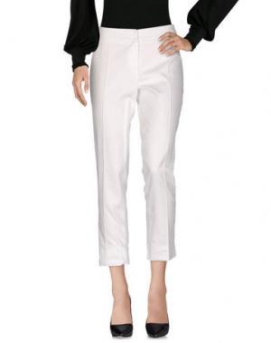 Повседневные брюки MARTA PALMIERI. Цвет: белый