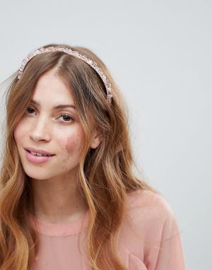 ASOS Обруч для волос DESIGN. Цвет: розовый