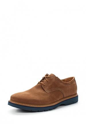 Туфли Clarks. Цвет: коричневый