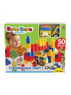 Игровой набор конструктор Город мечты K'S Kids. Цвет: синий, белый, желтый, красный