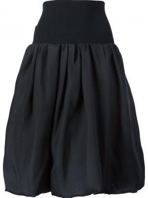 Пышная юбка с завышенной талией Oscar de la Renta. Цвет: чёрный