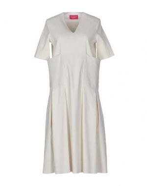Платье до колена CARLO CONTRADA. Цвет: слоновая кость