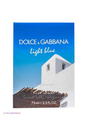 Dolce&Gabbana Light Blue Pour Homme Stromboli М Товар Туалетная вода 75 мл DOLCE & GABBANA. Цвет: голубой, белый