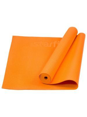 Коврик для йоги STARFIT FM-101 PVC 173x61x0,4 см, оранжевый. Цвет: оранжевый