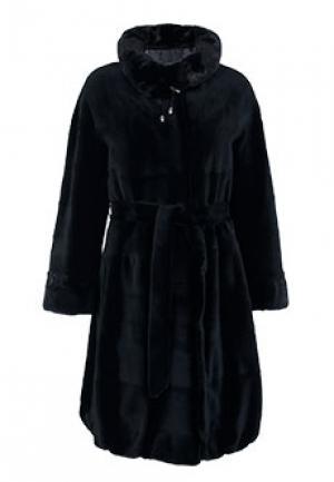 Пальто меховое норка BELLINI. Цвет: черный
