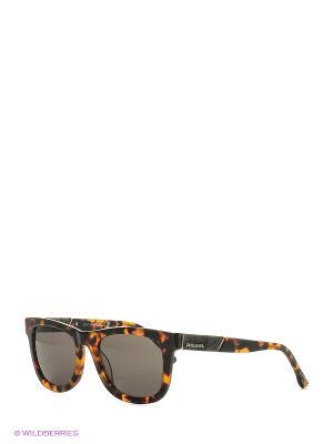 Солнцезащитные очки DL 0050 50N Diesel. Цвет: коричневый
