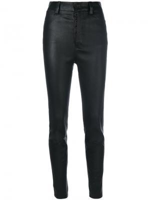 Байкерские брюки скинни Unravel Project. Цвет: чёрный