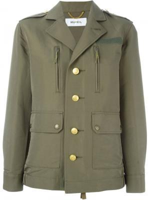 Куртка в стиле милитари Muveil. Цвет: зелёный