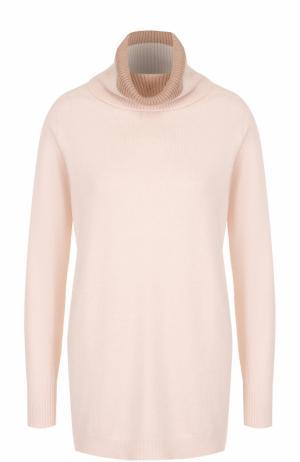 Вязаный свитер с высоким воротником D.Exterior. Цвет: бежевый