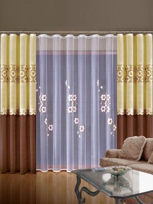 Комплект штор Wisan. Цвет: коричневый