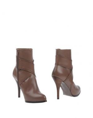 Полусапоги и высокие ботинки LODI. Цвет: светло-коричневый