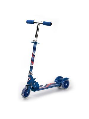 Самокат 3-колесный. стальной, колеса пвх 125 мм, макс. нагрузка до 25 кг . Next. Цвет: синий