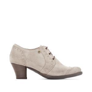 Ботинки-дерби кожаные на каблуке Ventura DKODE. Цвет: серо-коричневый