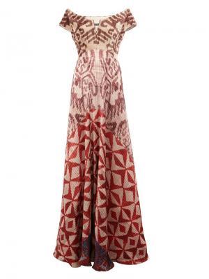 Длинное бархатное платье Afroditi Hera. Цвет: многоцветный