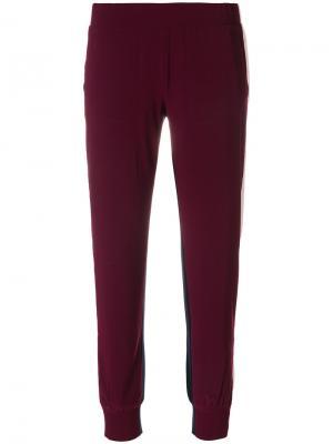 Спортивные брюки с лампасами Norma Kamali. Цвет: розовый и фиолетовый
