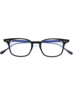 Очки в квадратной оправе Dita Eyewear. Цвет: чёрный