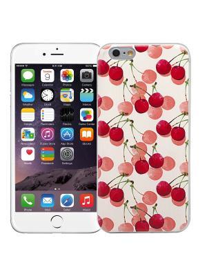Чехол для iPhone 6+ Вишенки Kawaii Factory. Цвет: малиновый, белый