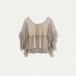Блузка JONC MES DEMOISELLES. Цвет: рисунок/серый