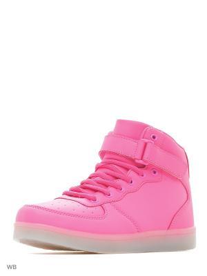 Светящиеся кроссовки Street LedShoes. Цвет: розовый