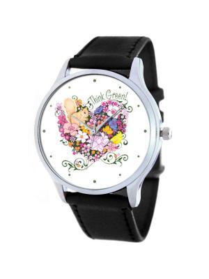 Дизайнерские часы Eco Tina Bolotina. Цвет: черный, белый, желтый